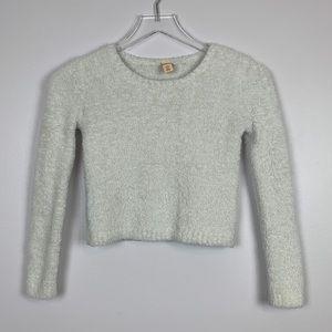 Harper Canyon White Fuzzy Sweater sz M Girls